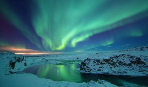 The northern lights holiday image
